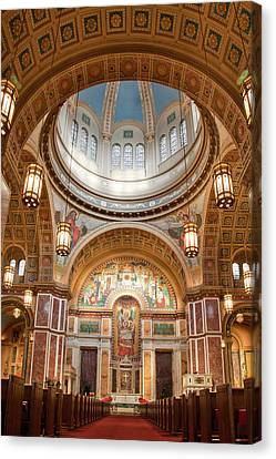 Cathedral Of St. Matthew II Canvas Print by Irene Abdou