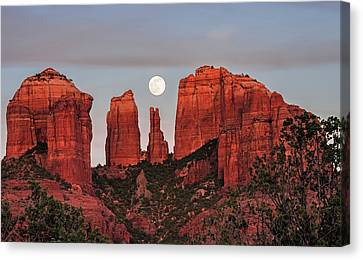 Cathedral Of The Moon Canvas Print by Loree Johnson