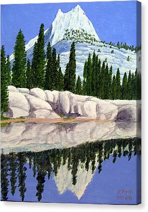 Canvas Print featuring the painting Cathedral Peak by Frederic Kohli