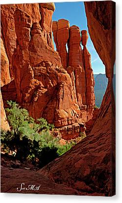 Cathedral Rock 06-124 Canvas Print by Scott McAllister