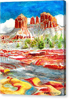 Cathedral Rock Crossing Canvas Print by Eric Samuelson