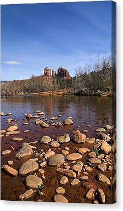 Canvas Print featuring the photograph Cathedral Rock by Dan Wells