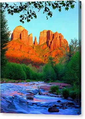 Cathedral Rock Canvas Print by Frank Houck