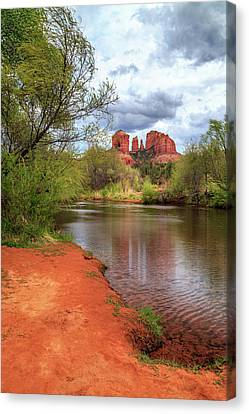 Cathedral Rock From Oak Creek Canvas Print by James Eddy
