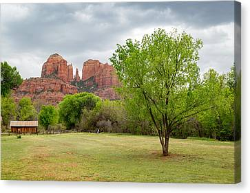 Cathedral Rock Canvas Print by Jon Manjeot