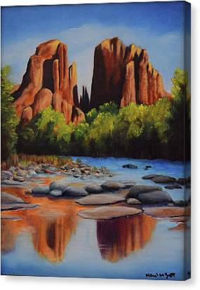 Cathedral Rock Canvas Print by Michael McGrath