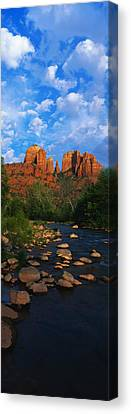 Oak Creek Canvas Print - Cathedral Rock Oak Creek Red Rock by Panoramic Images