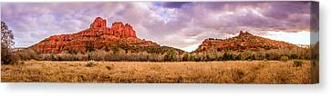 Cathedral Rock Panorama Canvas Print