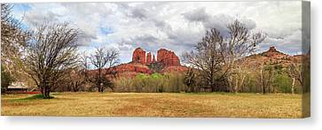 Canvas Print featuring the photograph Cathedral Rock Panorama by James Eddy