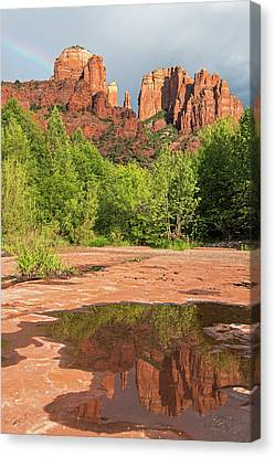 Cathedral Rock Rainbow Canvas Print by Loree Johnson