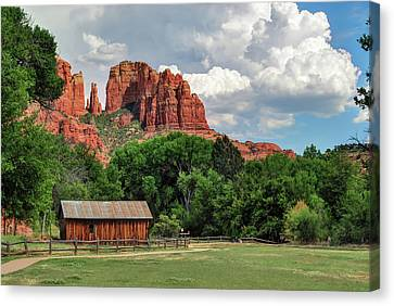Cathedral Rock - Red Rock Crossing - Sedona Arizona Canvas Print by Gregory Ballos