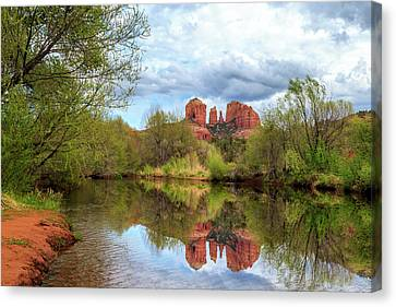 Cathedral Rock Reflection Canvas Print by James Eddy