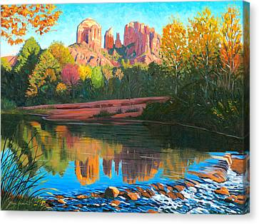 Oak Canvas Print - Cathedral Rock - Sedona by Steve Simon