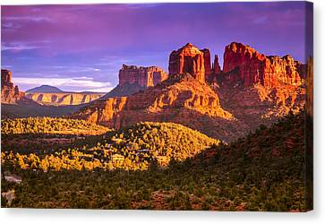 Cathedral Rock Sunset Canvas Print by Alexey Stiop