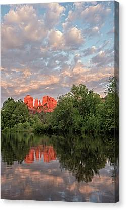 Cathedral Rock Sunset Canvas Print by Loree Johnson