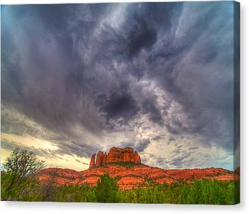 Cathedral Rock Vortex Canvas Print by William Wetmore