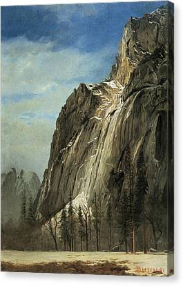 Cathedral Rocks A Yosemite View Canvas Print