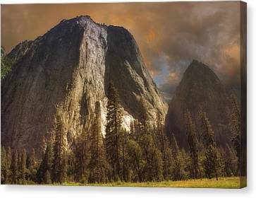 Cathedral Rocks Canvas Print by Michael Cleere