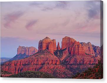 Canvas Print featuring the photograph Cathedral Rock by Patricia Davidson