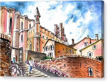 Cathedral Sainte Cecile In Albi 02 Canvas Print by Miki De Goodaboom