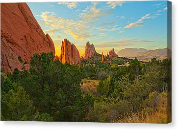 Cathedral Spires Canvas Print by Tim Reaves