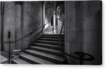 Cathedral Stairwell Canvas Print by Michael Donahue