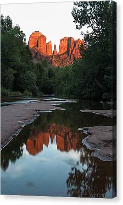 Cathedral Sunset Canvas Print by Bill Cantey