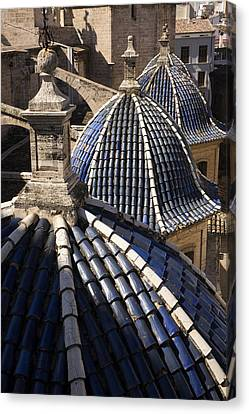 Cathedral Valencia Side Domes Canvas Print by For Ninety One Days
