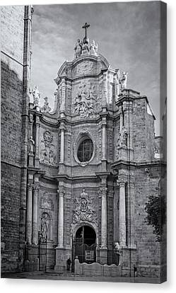 Canvas Print featuring the photograph Cathedral Valencia Spain by Joan Carroll