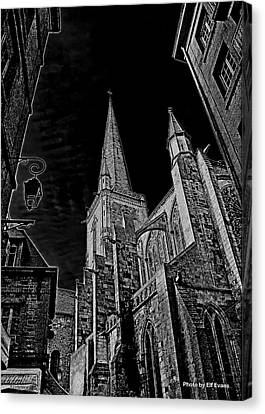 Canvas Print featuring the photograph Cathedrale St/. Vincent by Elf Evans