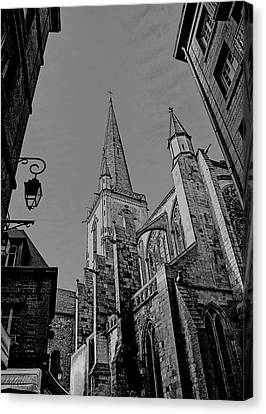 Canvas Print featuring the photograph Cathedrale St. Vincent  by Elf Evans