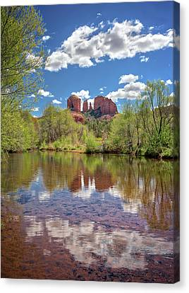 Catherdral Rock And Reflection - Sedona #2 Canvas Print by Jennifer Rondinelli Reilly - Fine Art Photography