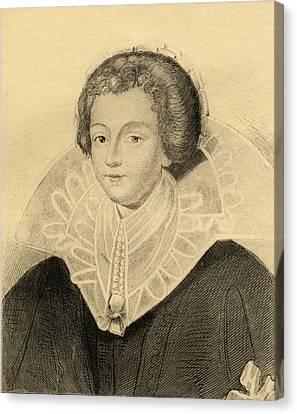Catherine-henriette D Entragues  De Canvas Print by Vintage Design Pics