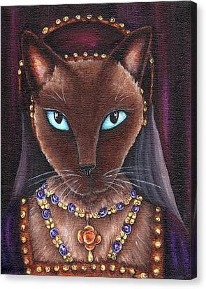 Catherine Howard Cat Canvas Print by Tara Fly