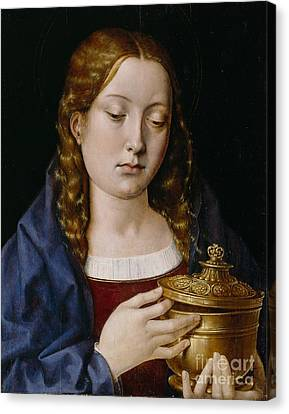 Catherine Of Aragon As The Magdalene Canvas Print by Michiel Sittow