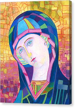 Our Lady Of Lourdes Catholic Art Canvas Print by Magdalena Walulik