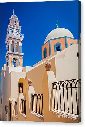 Thira Canvas Print - Catholic Cathedral Church Of Saint John The Baptist by Inge Johnsson