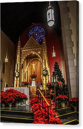 Catholic Christmas Canvas Print