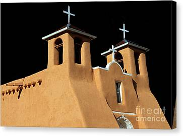 St Francis De Assi Church  New Mexico Canvas Print by Bob Christopher