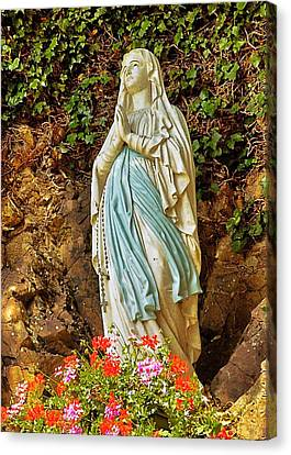 Canvas Print featuring the photograph Catholic Nun by Elf Evans