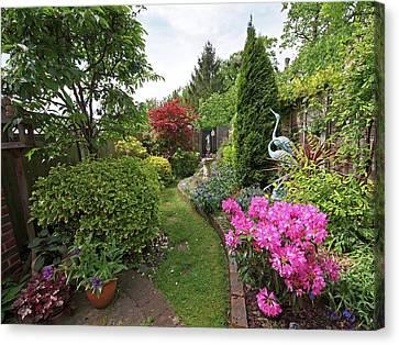 Cathy's Garden - A Little Slice Of England Canvas Print by Gill Billington