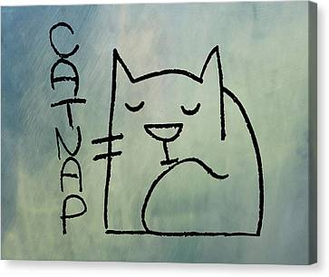 Catnap Canvas Print - Catnap by Bill Cannon