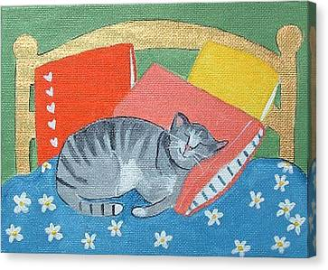 Catnap Canvas Print by Christine Quimby