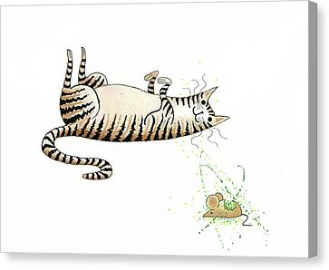 Rodent Canvas Print - Catnipped  by Andrew Hitchen