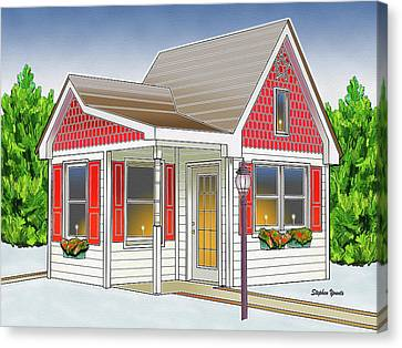 Catonsville Santa House Canvas Print by Stephen Younts