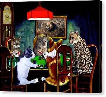 Cats Are Wild Poker Canvas Print