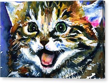 Cats Eyes 15 Canvas Print by John D Benson