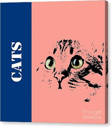 Drawers Canvas Print - Cats Logo by Pablo Franchi