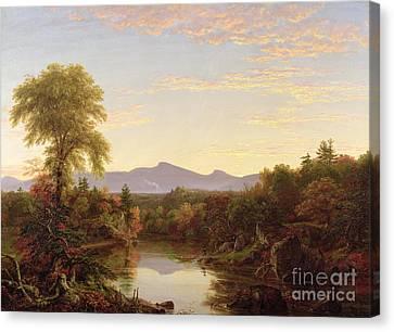 The Fall Canvas Print - Catskill Creek - New York by Thomas Cole