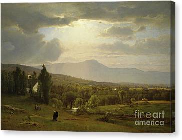 Sun Rays Canvas Print - Catskill Mountains by George Inness